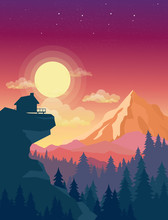 Vector Illustration Of House O...