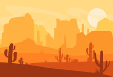 Vector Illustration Of Western...