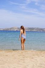 Adolescente En La Playa, Isla ...