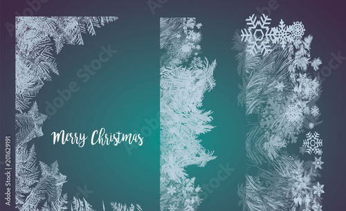 Fotomural 2018 New Year on ice frosted background