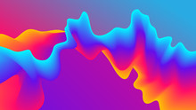 Abstract Gradient Wavy Background. Futuristic Paint Blend Effect. Fluid Shapes Template Design. Vector EPS 10