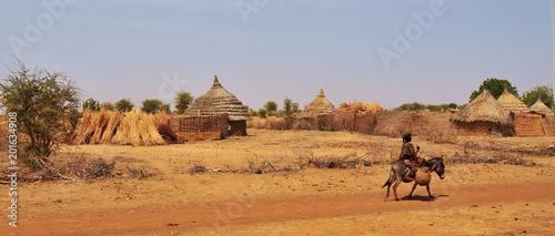 Fotografie, Obraz  Village in the area of Sahel   in Chad