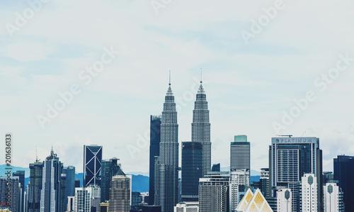 Photo Stands Kuala Lumpur Petronas Tower Kuala Lumpur