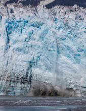 Hubbard Glacier In Alaska.