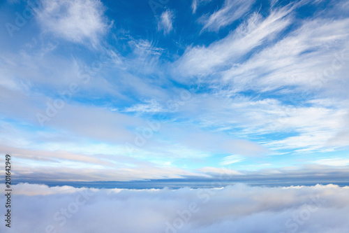 Valokuva  View from above clouds