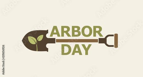 Tablou Canvas Arbor day. Icon.