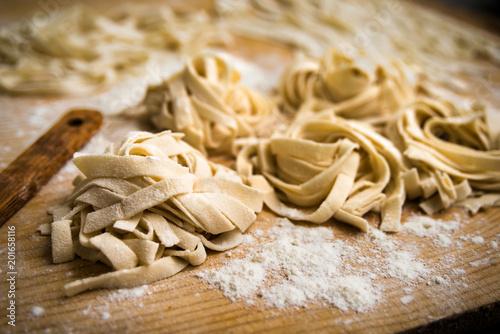 Lagane, pasta fatta in casa tipica dell'Italia Meridionale - typical Canvas Print