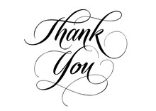 Thank You Lettering With Swirl...