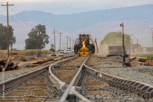 Fotografía  railroad track construction