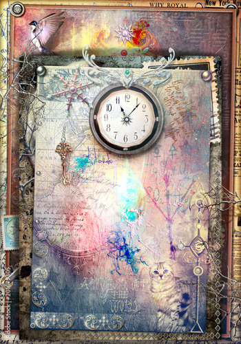 Canvas Prints Imagination Wonderland. Alice and through the looking-glass series