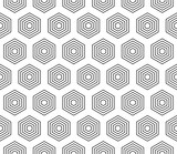 Pattern seamless abstract background black color and white line. Geometric line vector. - 201680359