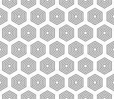 Wzór bez szwu abstrakcyjne tło czarny kolor i biała linia. Geometryczny wektor liniowy. - 201680359