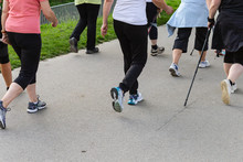 Nordic Walking Group Of Happy ...