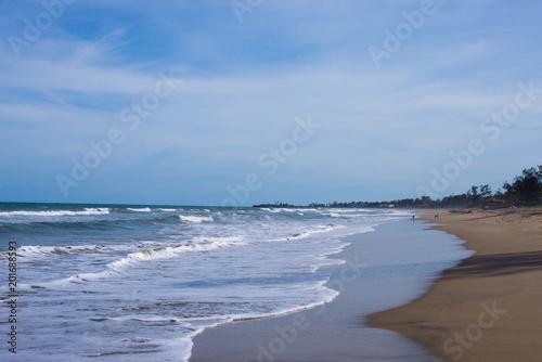 Fotografia, Obraz  Mahabalipuram Beach near Chennai in Tamil Nadu, India
