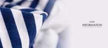 Cloth White Blue Marine Clothing Textile Macro