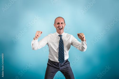 Fotografie, Tablou  uomo d'affari che esulta per un successo