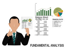 An Investor Is Presenting About Fundamental Analysis Of Stock