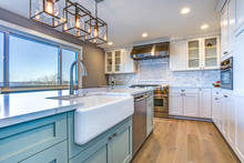 Beautiful Kitchen Room With Gr...