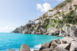 Coastline of Amalfi, Italy. Seascape