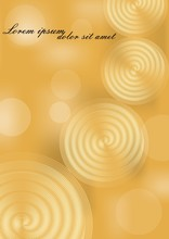 Yellow And Gold Abstract Backg...