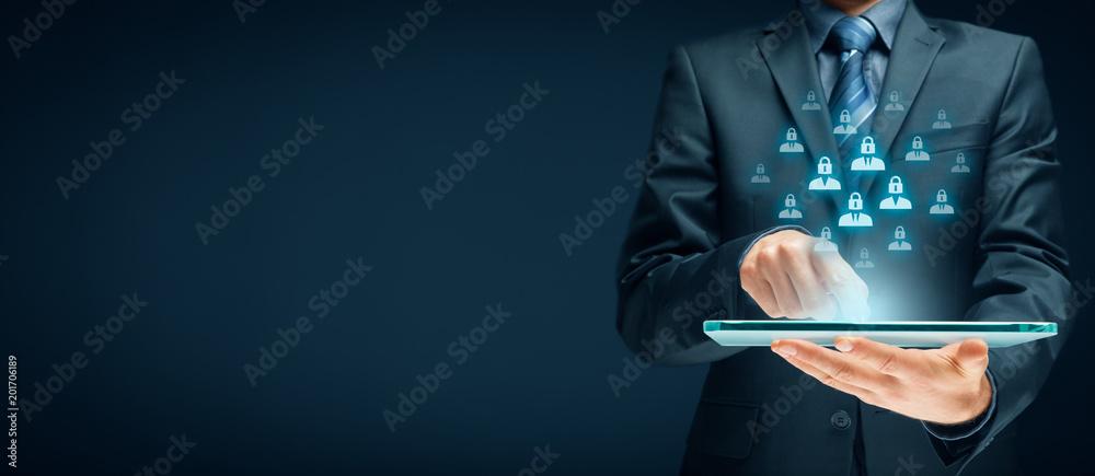 Fototapeta Personal data protection concept