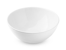 Bowl Empty, Isolated On White Background, Clipping Path, Full Depth Of Field