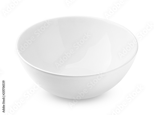 bowl empty, isolated on white background, clipping path, full depth of field Canvas-taulu
