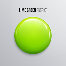 Blank Lime Green Glossy Badge ...
