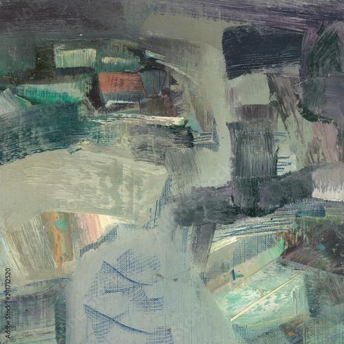 Keuken foto achterwand Olijf gray winter sketch