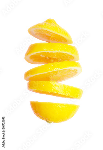 Leinwand Poster Flying lemon