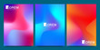Vector design template in trendy vibrant gradient colors with abstract fluid shapes, paint splashes, ink drops. Futuristic posters, banners, brochure, flyer and cover designs. Abstract fluid 3d shapes