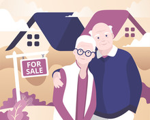 Aged Couple Selling House