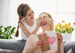 canvas print picture daughter is congratulating mom