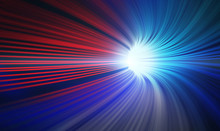 Red And Blue Abstract Speed Mo...