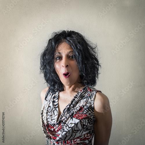 Fotografie, Obraz  ritratto di donna piacevolmente stupita
