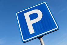 Dutch Road Sign: Parking Area