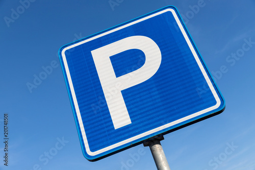 Dutch road sign: parking area