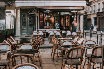 Cafe with tables on street...