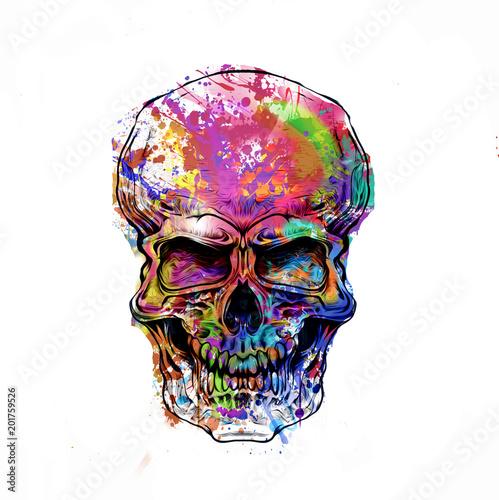 яркий абстрактный череп