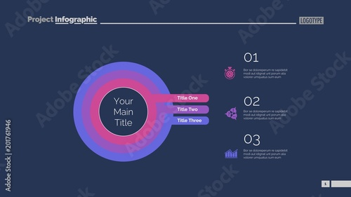 Photo  Three Concentric Circles Process Slide Template