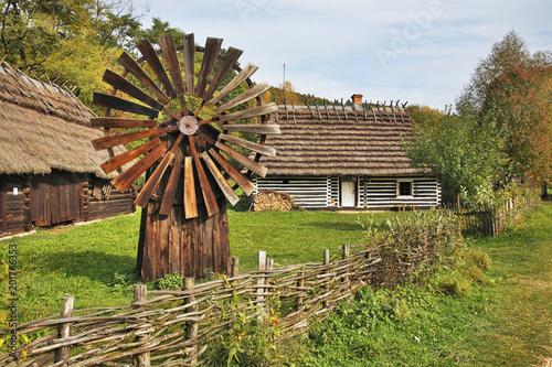 Old windmill in Sanok. Subcarpathian voivodeship. Poland