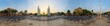 360 Panorama view of Democracy Monument public landmark in Bangkok, Thailand