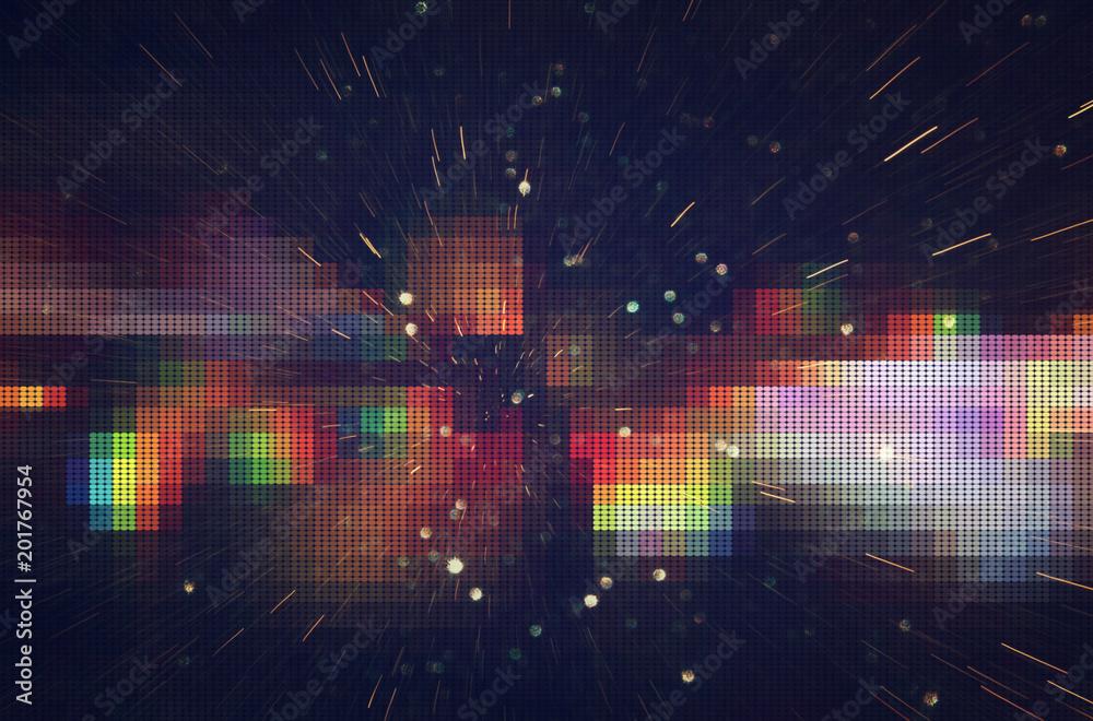 Fototapety, obrazy: Test Screen Glitch Texture