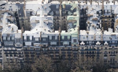 Paris, France, widok z wieży Eiffla