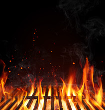 Grill Background - Empty Fired...