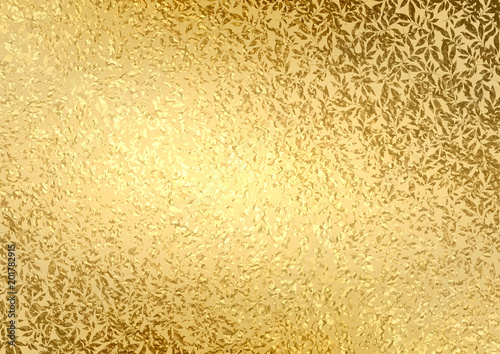 abstract gold luxury background with bright golden texture leaves