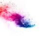 canvas print picture - abstract powder splatted background. Colorful powder explosion on white background. Colored cloud. Colorful dust explode. Paint Holi.