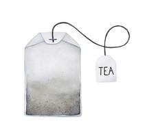 Tea Bag Watercolor Illustratio...
