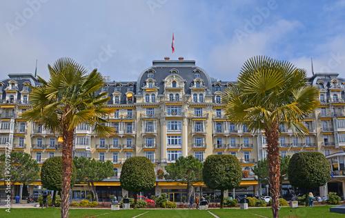 Stampa su Tela Montreux, Belle Epoque Architektur