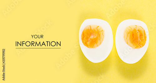 Fotografia  Boiled egg pattern